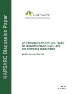 An Introduction to the KAPSARC Toolkit for Behavioral Analysis (KTAB)