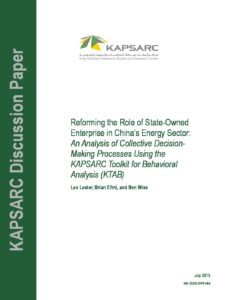 Reforming the Role of State-Owned Enterprise in China's Energy Sector-web